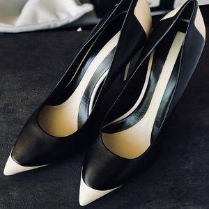 Narciso Rodriguez pump black/ivory Napa
